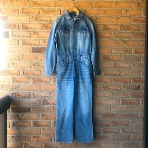 LEVI'S | Blue jean kick flare denim jumpsuit